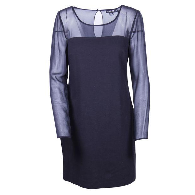 fddcf51c028 DKNY Black Long Sleeves Silk Dress 0 thumbnail