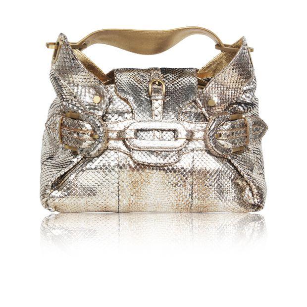e98b622dcff Metallic Snakeskin 'Tulita Hobo ' Bag by JIMMY CHOO | StyleTribute.com