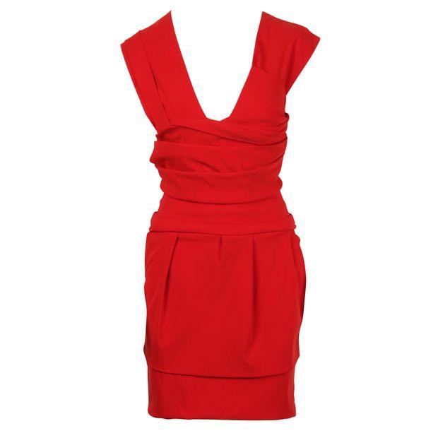 Red Acetate Dress