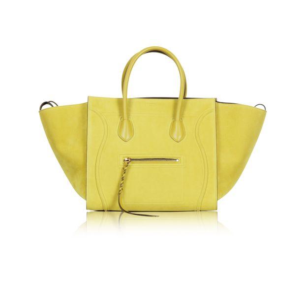 Mustard Yellow 'Phantom' Medium Chartreuse Tote Bag