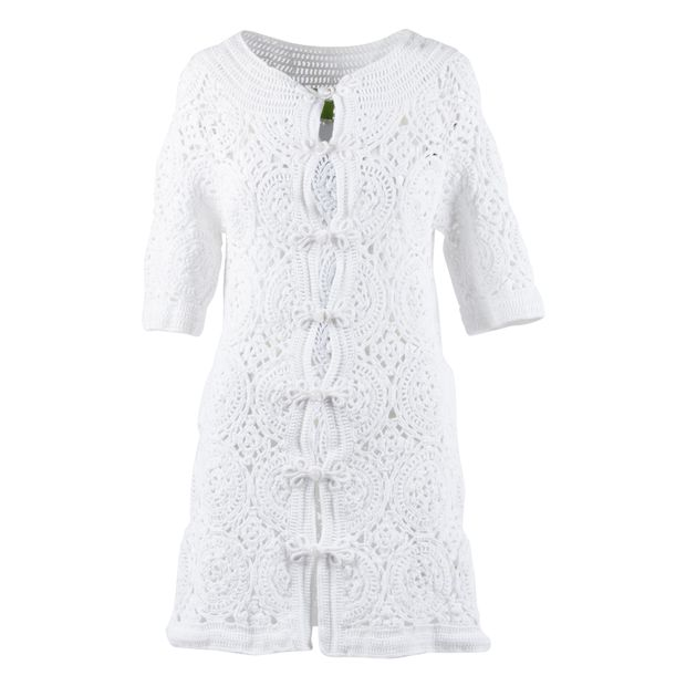 White Crochet Cardigan By Shanghai Tang Styletributecom