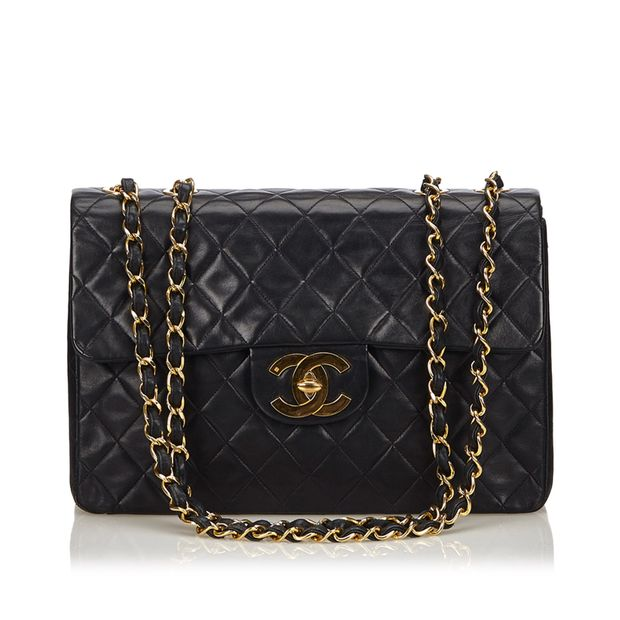 cf180693235af6 Classic Maxi Lambskin Flap Bag by CHANEL | StyleTribute.com