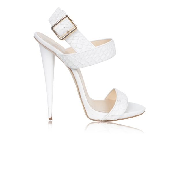 Snake Gold Buckle Leather By With Effect Sandal Giuseppe White ChrdstQ