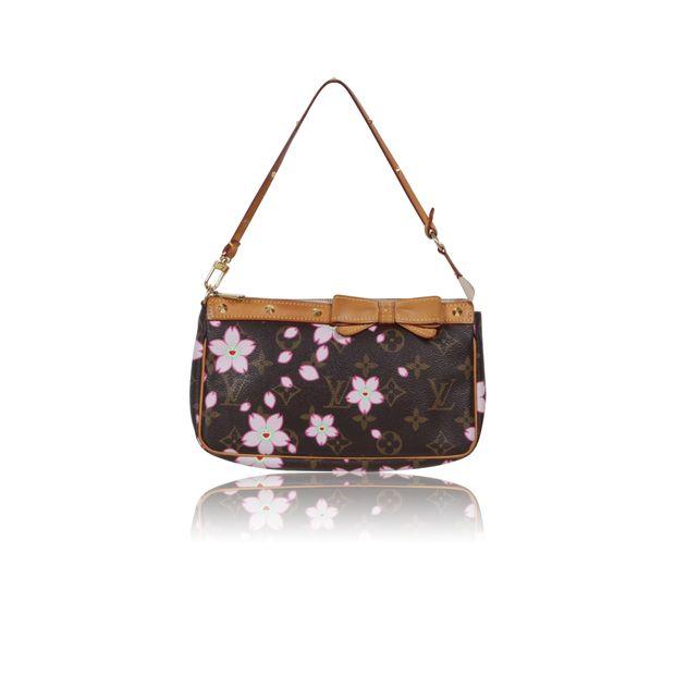 5434fefcbe24 Takashi Murakami Cherry blossom Flower Stud Bag by LOUIS VUITTON ...