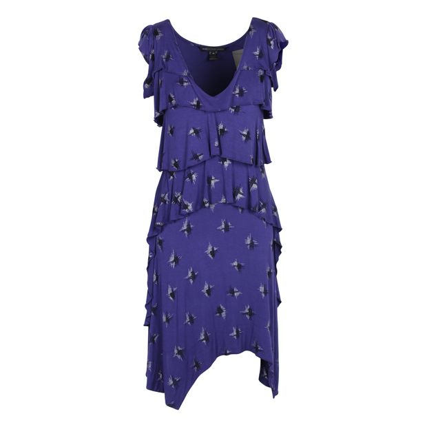 00ad675d28611 MARC BY MARC JACOBS Purple Cocktail Dress With Black and Silver  Embellishments ...