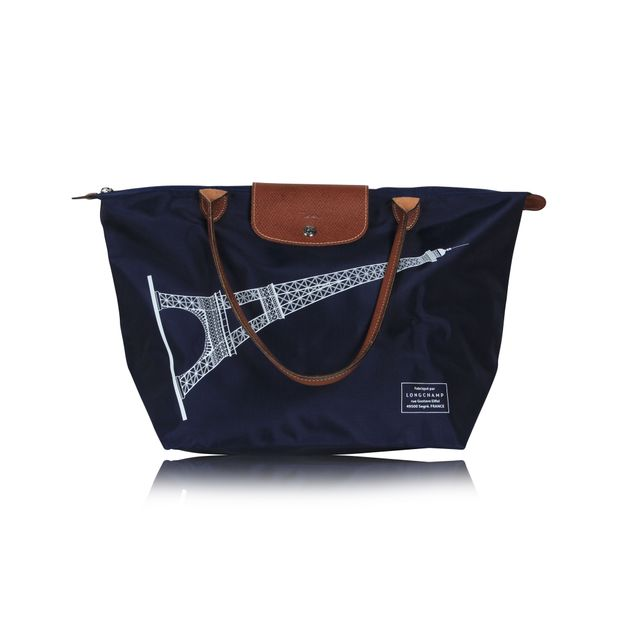 a68beade1f Navy Blue Large Tote Bag Le Pliage by LONGCHAMP   StyleTribute.com