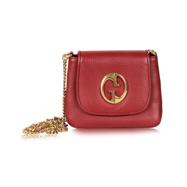 3522c1d21b52b5 Burgundy Crossbody Bag with Gold Chain by GUCCI | StyleTribute.com