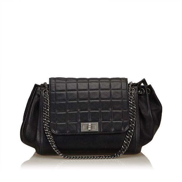 19e69829688793 Choco Bar Accordion Shoulder Bag by CHANEL | StyleTribute.com