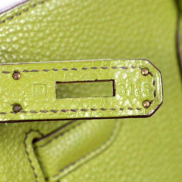 4f241be58c0 Lime Green Togo 35cm Birkin Bag by HERMÈS