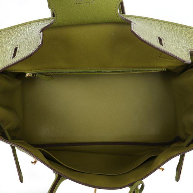 d22cde65efd HERMÈS Lime Green Togo 35cm Birkin Bag 5 thumbnail