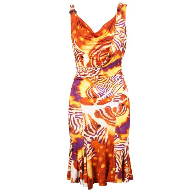 sneakers for cheap ddf0f e1155 Animal Print Open Back Dress