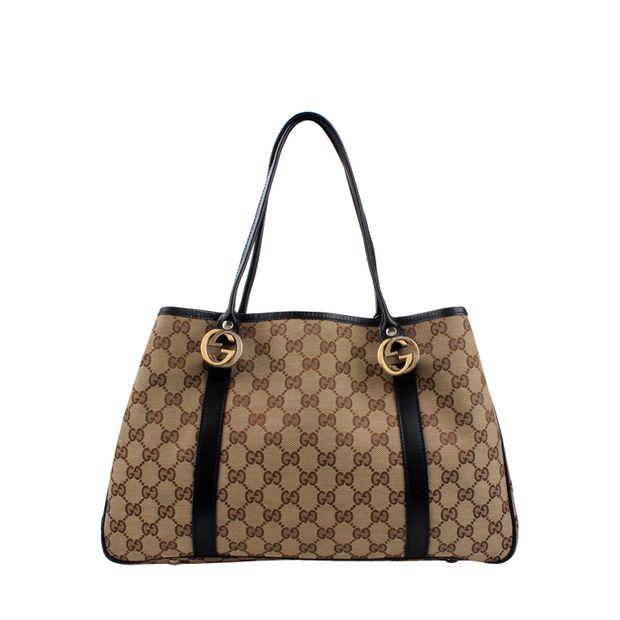 47c922f294a Gucci Canvas Borsa GG Twins Bag in Beige by GUCCI   StyleTribute.com