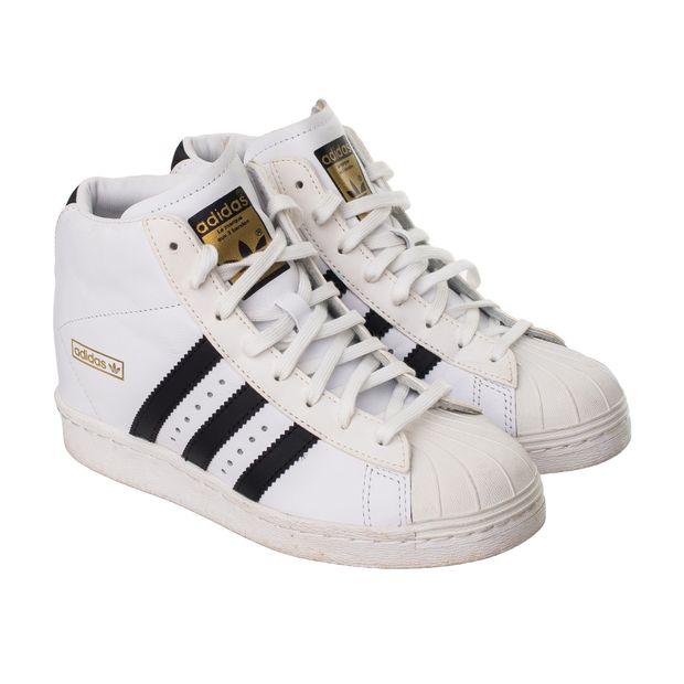 adidas superstar all white high top