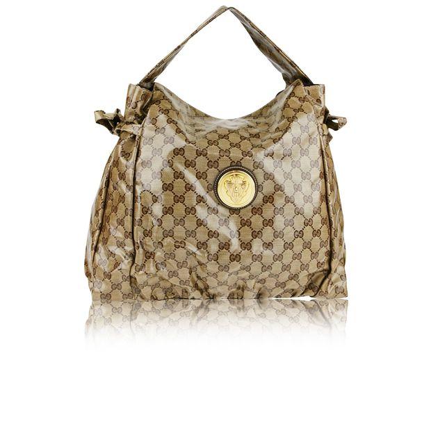 07a23a27901fca Beige Crystal Hysteria Medium Shoulder Bag by GUCCI   StyleTribute.com
