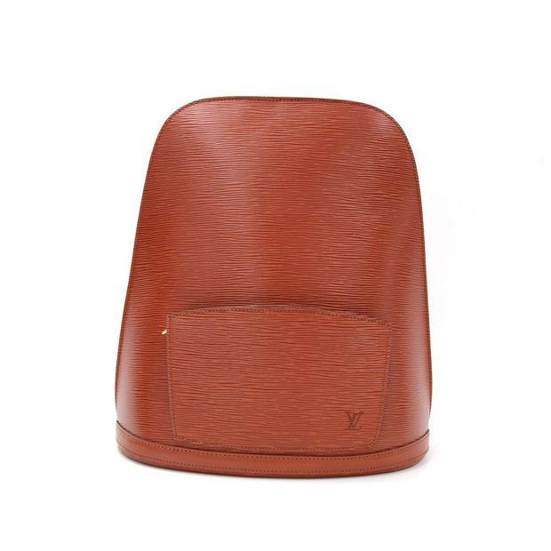 d2b195b3508b5 LOUIS VUITTON Vintage Gobelins Brown Kenyan Fawn Epi Leather Large Backpack  Bag ...