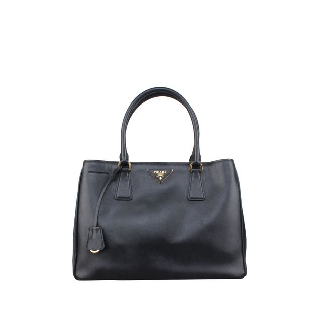 83ff50eabb6612 Saffiano Lux Nero Bag in Black by PRADA | StyleTribute.com