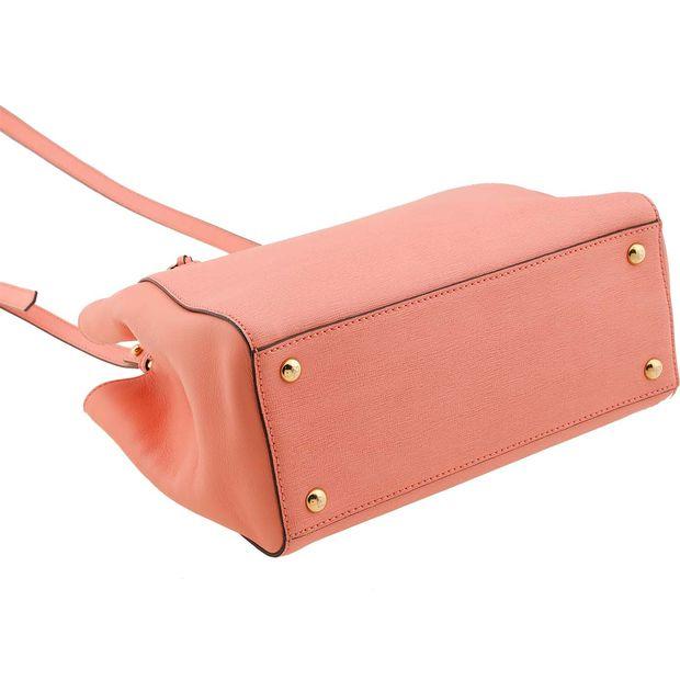 7eaaf7e521ae FENDI Fendi Light Pink Leather Mini 2Jours Bag 2 thumbnail