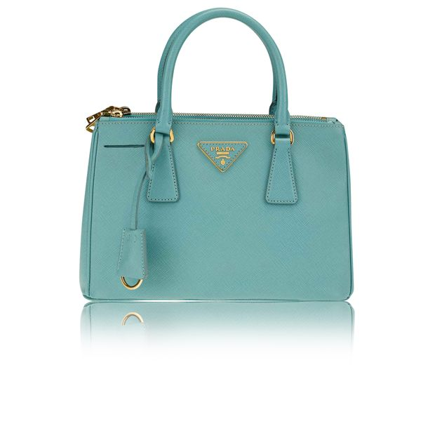 c020bedb00bd5b PRADA Prada Aquamarine Saffiano Leather Lux Small Double Zip Tote Bag 0  thumbnail