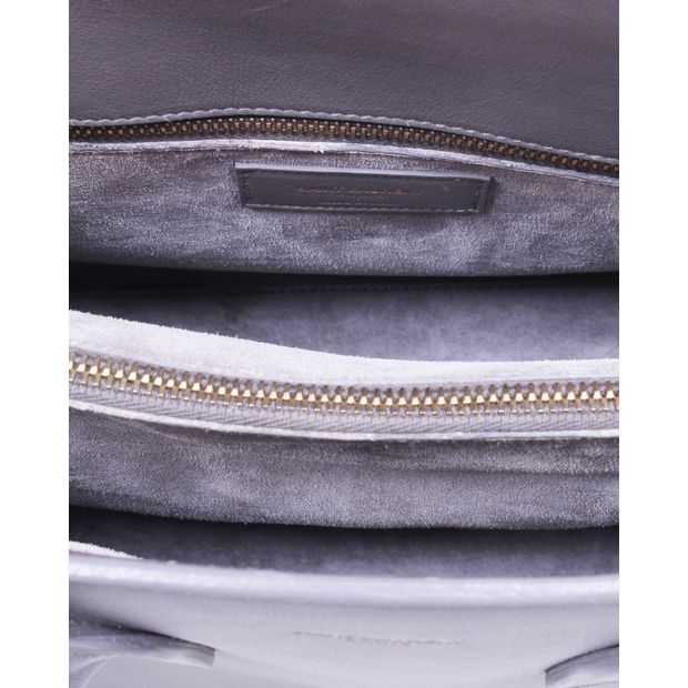 f1259a4d29da SAINT LAURENT Grey Bo Mini Sac De Jour Tote 7 thumbnail