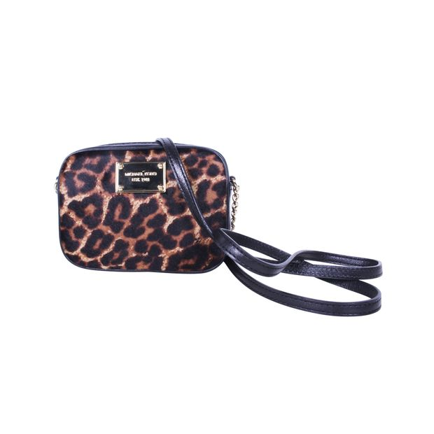 30597bbfcd30 MICHAEL MICHAEL KORS Hamilton Leopard Print Haircalf Small Cross-Body Bag  ...