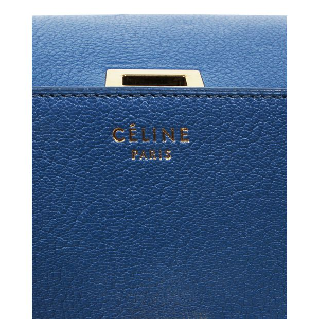 30d7cb3bdabed CELINE Medium Classic Box Crossbody Bag in Petrol 4 thumbnail