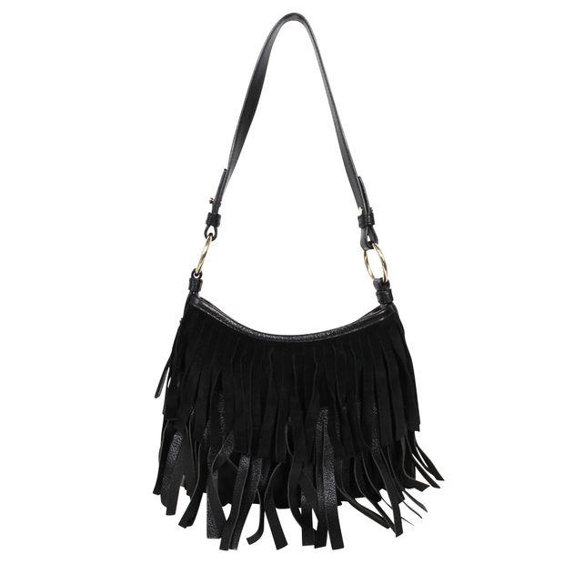 2173923f4de Monogramme Fringed Suede Mini Handbag by YVES SAINT LAURENT ...
