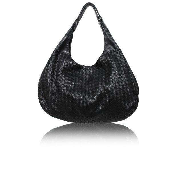 ec9929404d32 Black Intrecciato Nappa Large Campana Hobo Bag by BOTTEGA VENETA ...