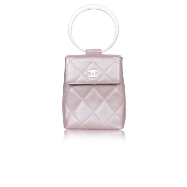 38b6a10f6d2f Lilac Purple Vintage Quilted Clutch Bag by CHANEL | StyleTribute.com