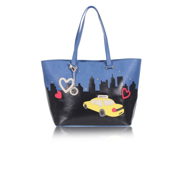 Bryant Park Novelty Tote with Taxi Print