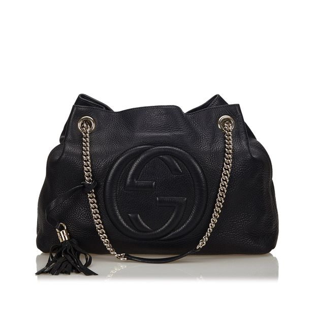 6998d7539be Soho Leather Chain Shoulder Bag by GUCCI