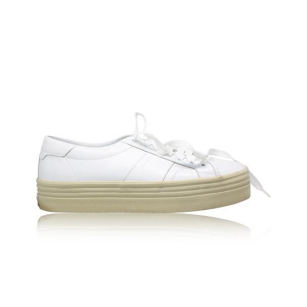 775a70f1f032 SAINT LAURENT Leather Court Classic Platform Sneakers 0 thumbnail