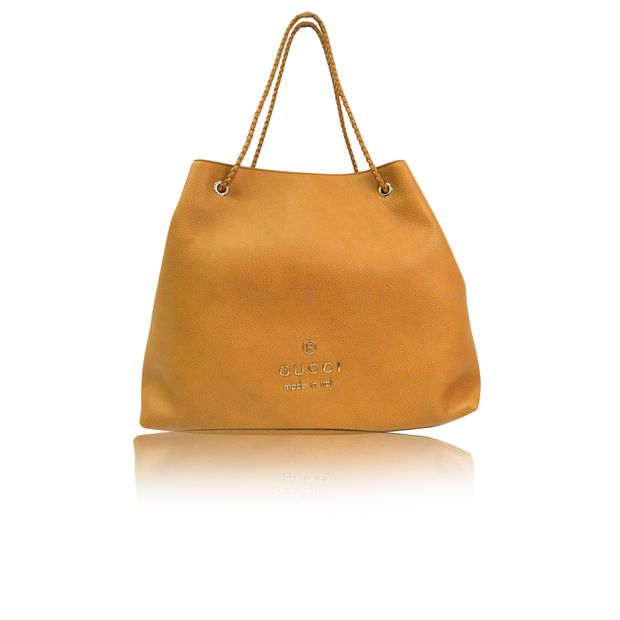 53fa08e1789 GUCCI Beige Calfskin Leather Tote Bag GUCCI Beige Calfskin Leather Tote Bag  zoomed. sold