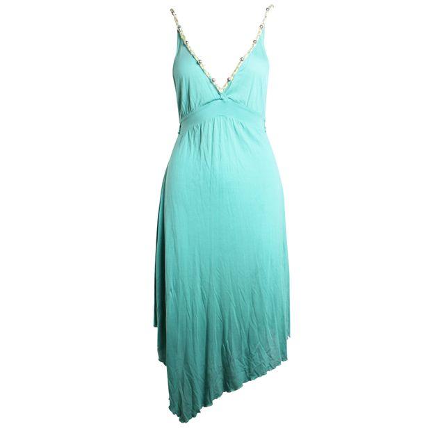 brand new 7d96e 407f5 Blue Ocean Braided Yellow Rose Green Ocean Dress