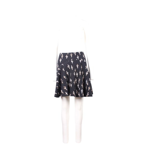 841d4acb5d Silver And Gold Cacti Printed Black Cotton Mini Skirt by KENZO ...