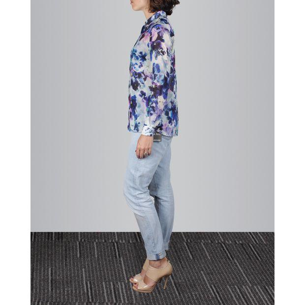 65e7ff49 Black Flower Print Long Sleeve Shirt by PAUL SMITH   StyleTribute.com