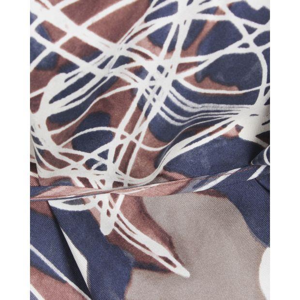 035cc6bdf11e4 RACHEL ZOE Brown One Shoulder Silk Top 4 thumbnail