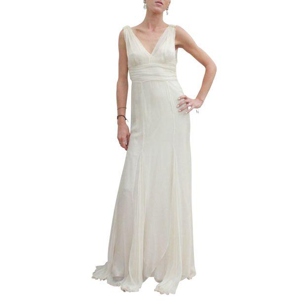 d4738a097f5b An Imperial Style Dress by ALBERTA FERRETTI | StyleTribute.com