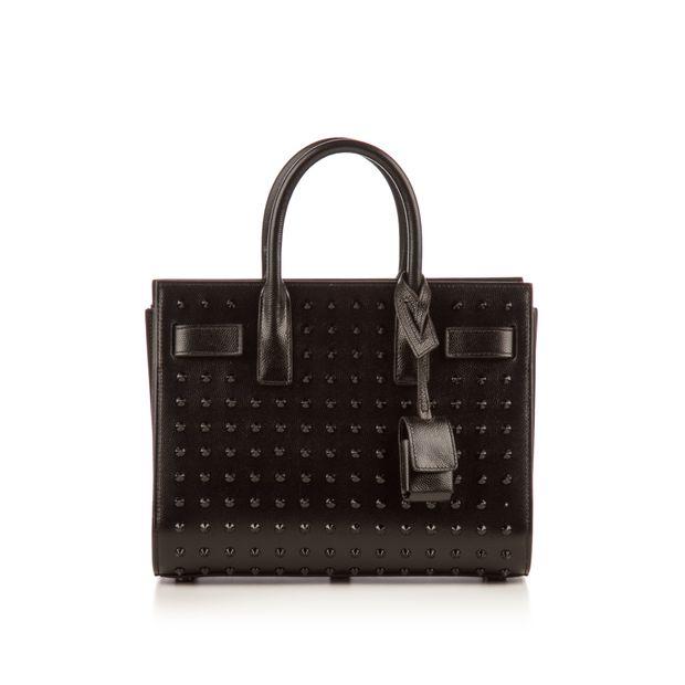 b9b42162f7 Black Leather Studded Nano Sac De Jour Bag by YVES SAINT LAURENT ...