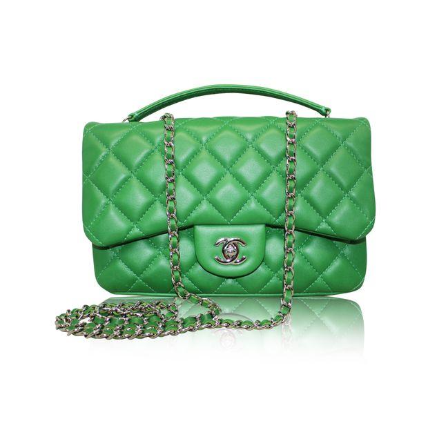 3ee89dd7cb49 Green Chanel 3 2014 Medium Flap bag by CHANEL
