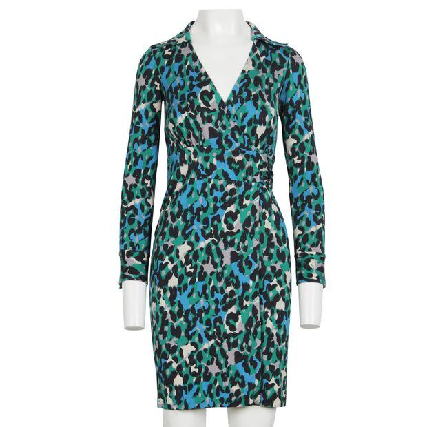 191de87a1087 DIANE VON FURSTENBERG Vintage Judy Wrap Dress With Leopard Print 1 thumbnail