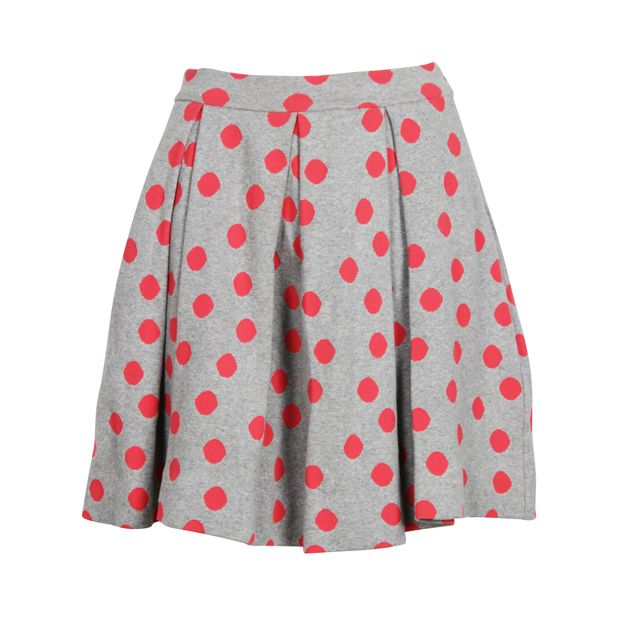 ce908e2c9 Grey Knit With Fluoro Pink Polka Dots Skirt by MARC BY MARC JACOBS ...