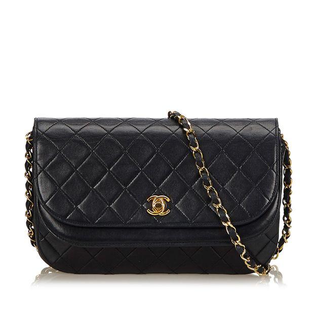 c4357a44da1fef Matelasse Half Moon Flap Bag by CHANEL | StyleTribute.com