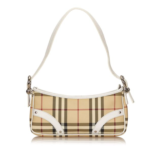 7b0aeaf99868 Plaid PVC Shoulder Bag by BURBERRY