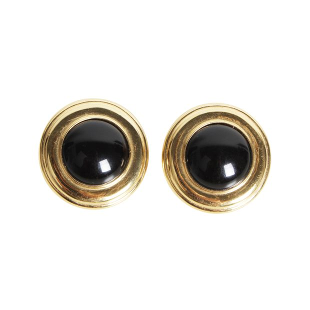 Vintage Monet 60 70 S Extra Large On With Black Center Earring Clip