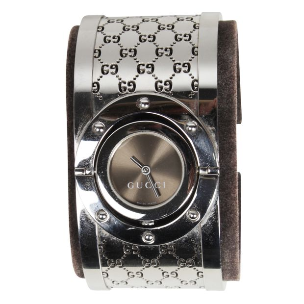 1b716d244cf Twirl Stainless Steel Bangle Watch by GUCCI