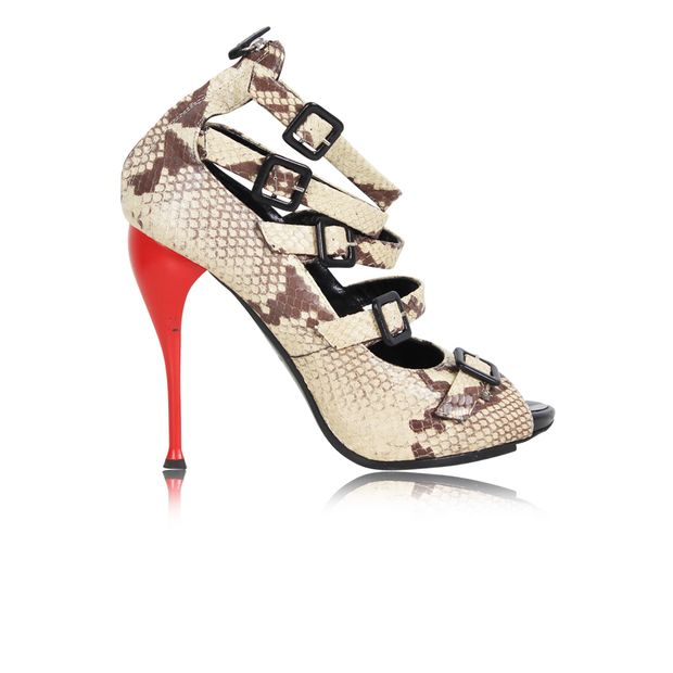 1a7a71077a1cc Snakeskin Pumps with Red Heels by GIUSEPPE ZANOTTI | StyleTribute.com