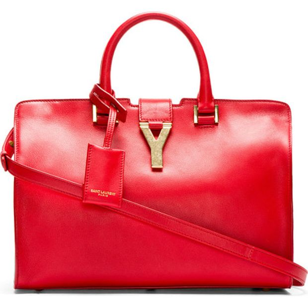 f961050169c Y Small Cabas Tote by YVES SAINT LAURENT | StyleTribute.com