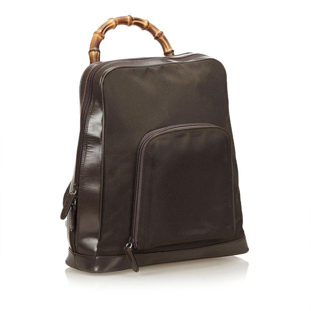 d730a0245fc GUCCI Bamboo Nylon Sling Backpack 1 thumbnail