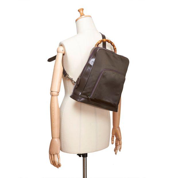 8fe4deb8ea4 Bamboo Nylon Sling Backpack by GUCCI