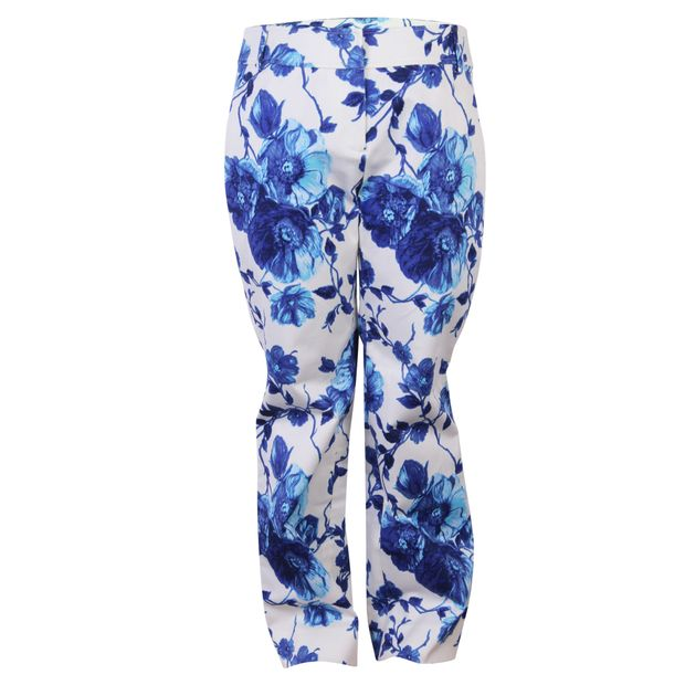 a55745149e1 Floral Straight Cut Pants by TORY BURCH | StyleTribute.com